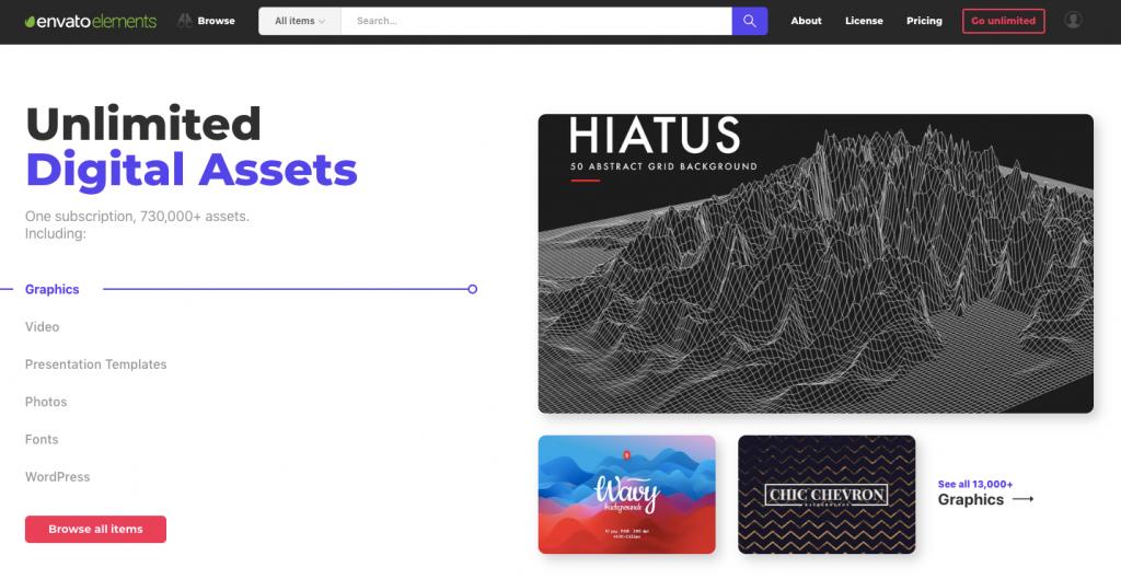 Envato Elements Website