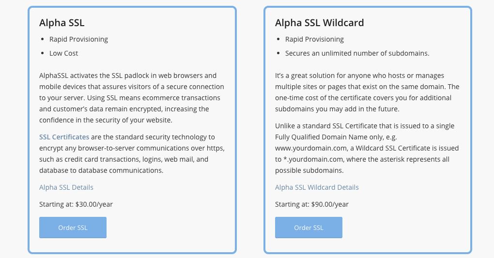 AlpineWeb SSL and Security