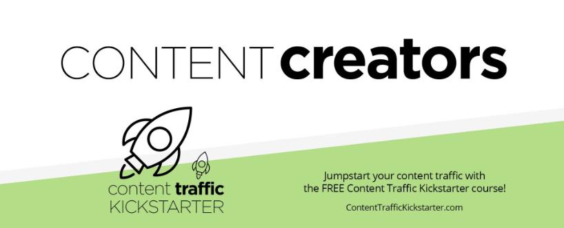 Content Creators Facebook Group - Content Marketing
