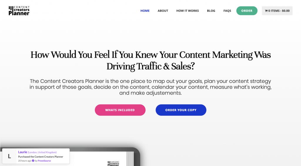 Content Creators Planner