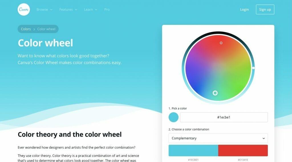 Canva Color Wheel