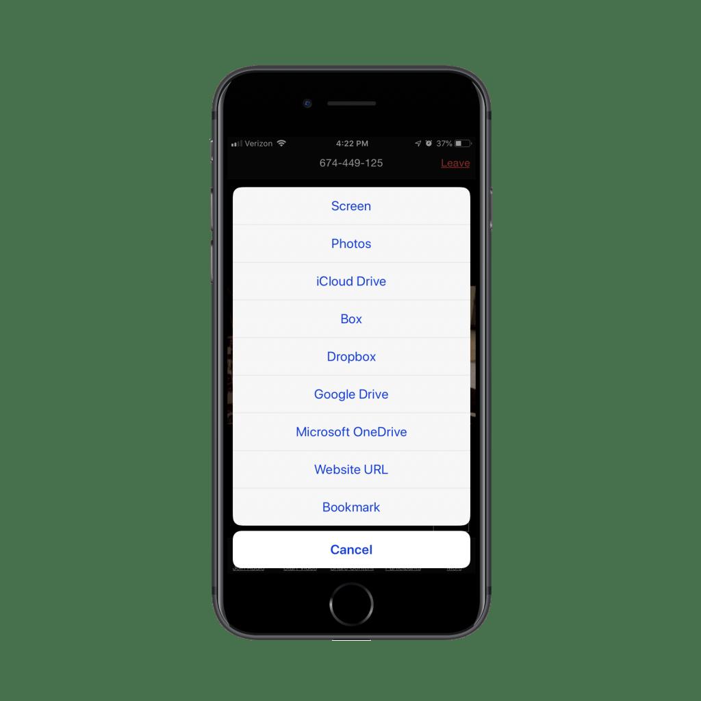 Share Screen