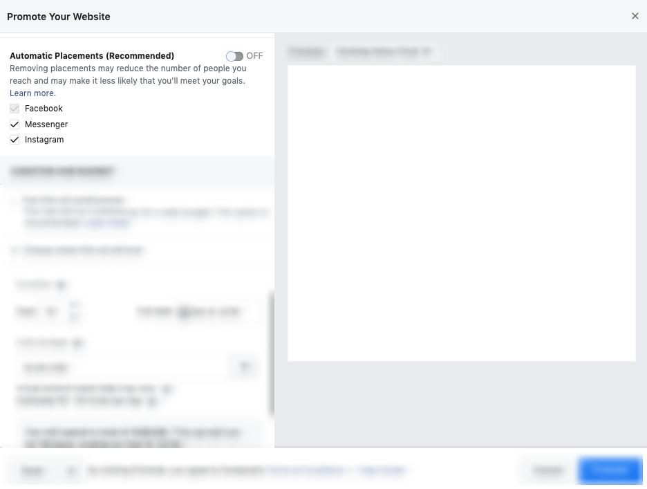 Facebook Auto Placements