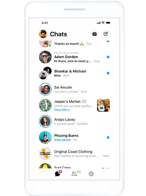 Messenger Inbox Preview