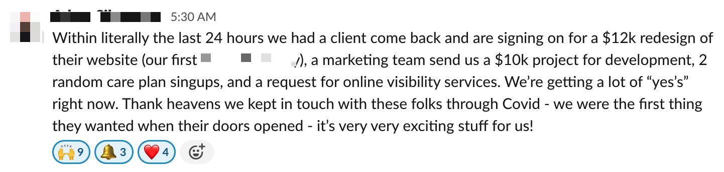 online mastermind testimonial