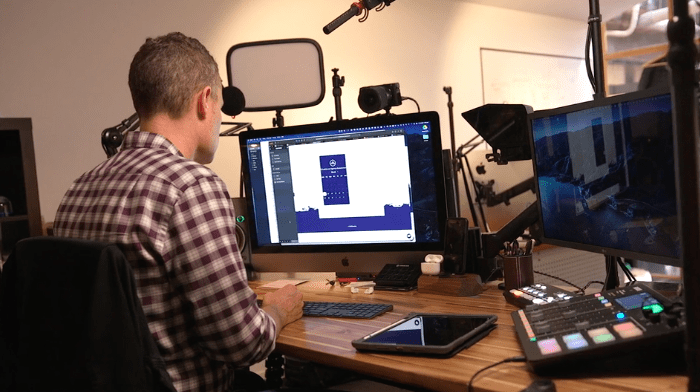 Studio equipment for live streaming