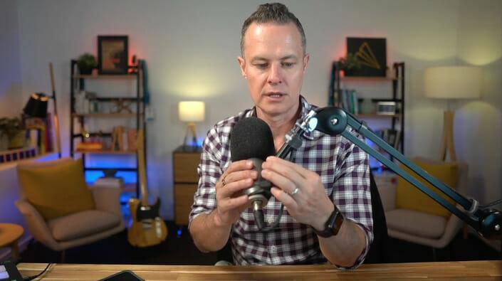 Rode Broadcaster microphone in studio